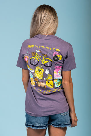 Simply Southern Tee in Plum