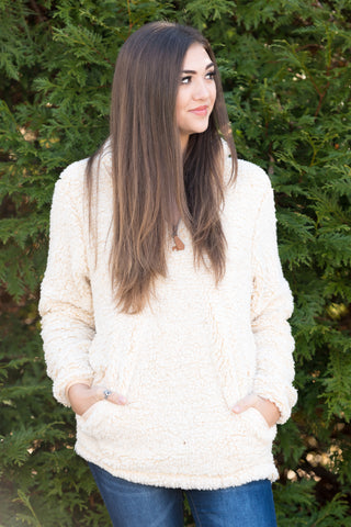 Sherpa Simply Southern Pullover in Cream