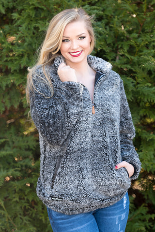 Sherpa Simply Southern Pullover in Steel