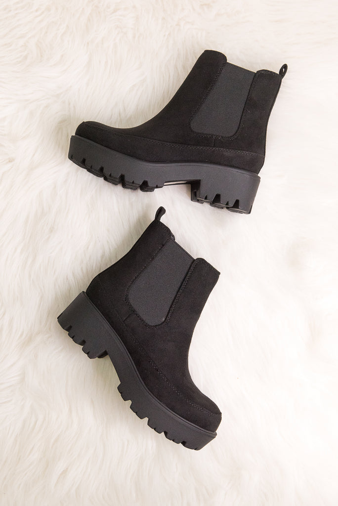 Checkmate Booties in Black