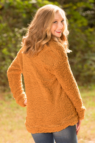 Sweet Dreams Pullover in Camel