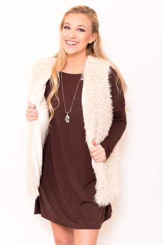 Blizzard Vest in Cream