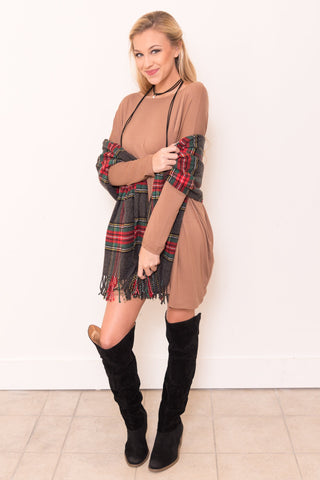 Piko Perfect Dress in Mocha