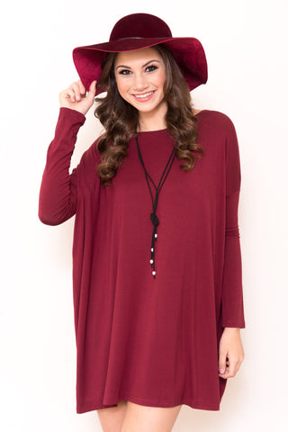 Piko Perfect Dress in Plum