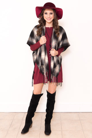 Perfect in Plaid Poncho