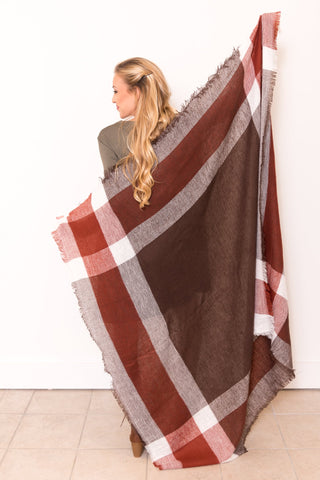 Autumn Breeze Scarf in Brown/Rust