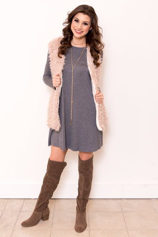 Blizzard Vest in Rose Cream