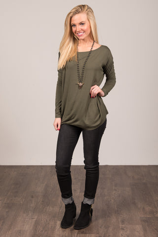 Piko Perfect Top in Army
