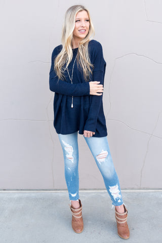Piko Plush in Dark Blue