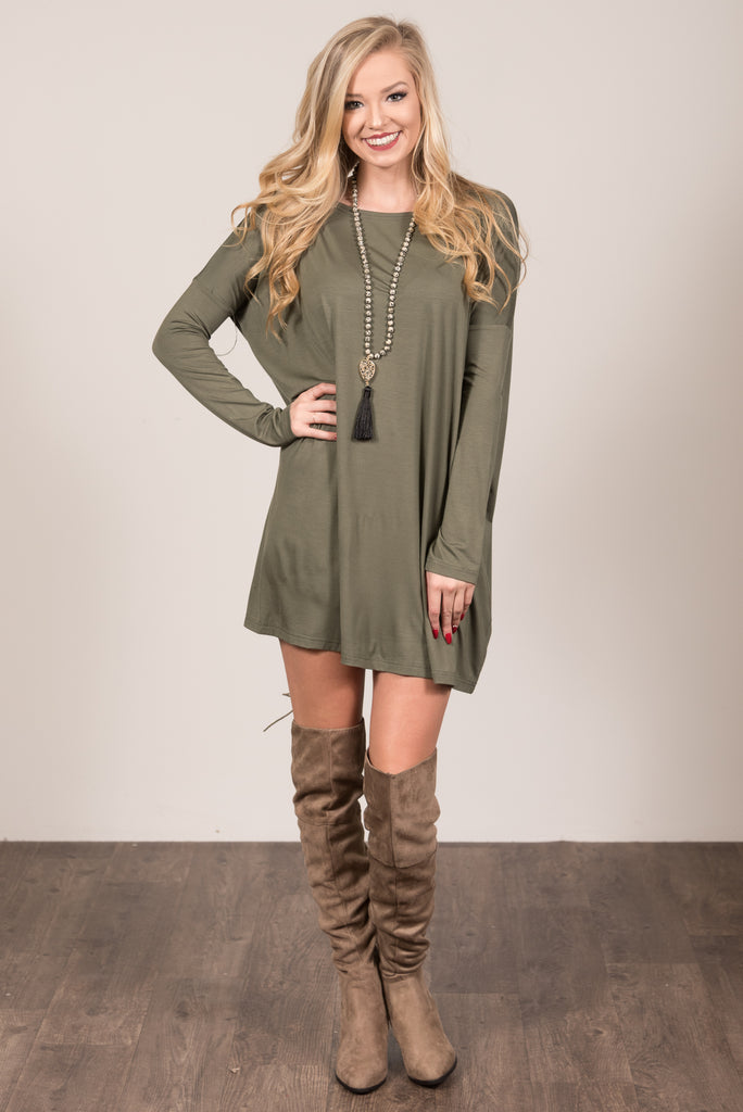 Piko Perfect Dress in Army
