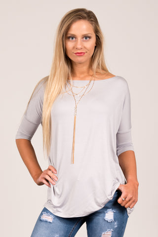 Piko Perfect 3/4 Sleeve Top in Harbor Mist