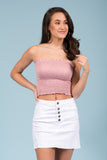 Girls Like you Tube Top in Dark Pink
