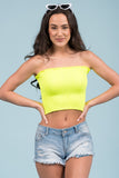 Girls Like you Tube Top in Neon Yellow
