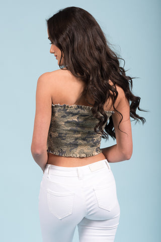Girls Like You Tube Top in Camo