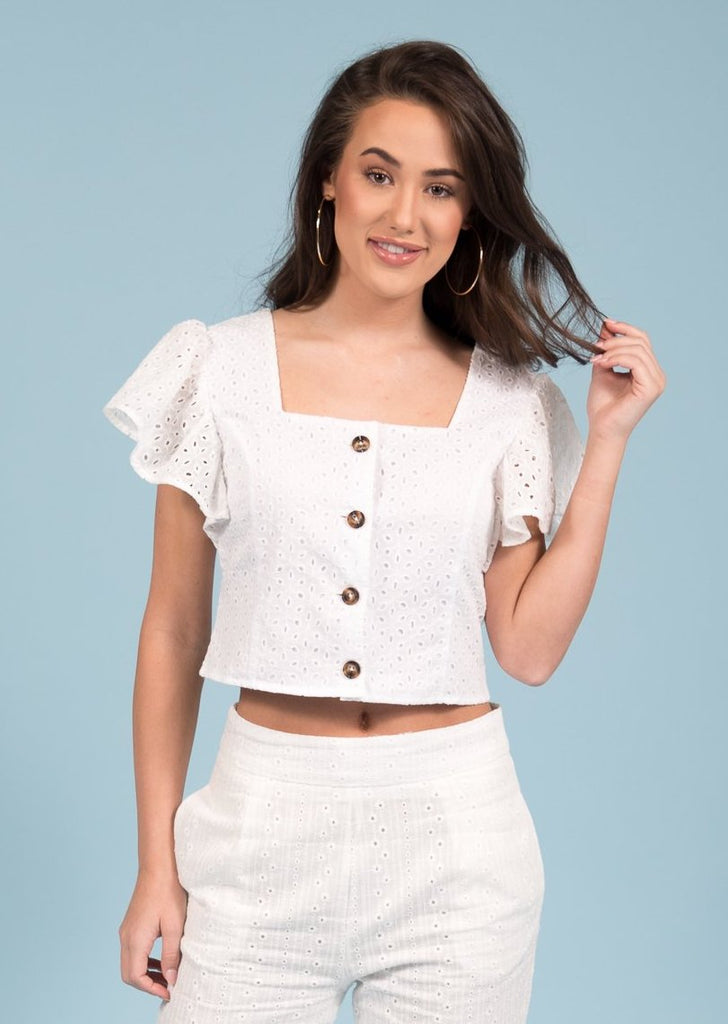 Hello Spring Top in White