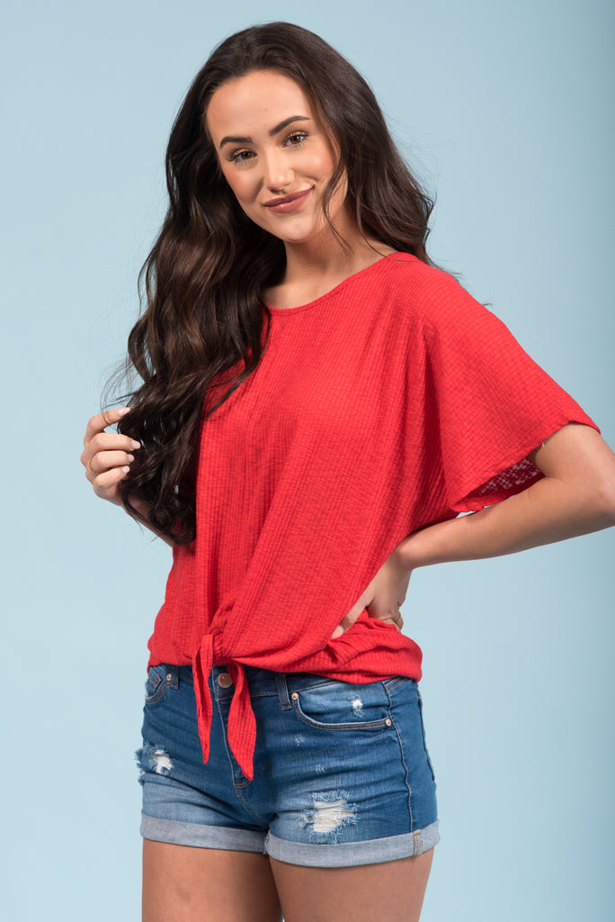 Just in Love Top in Tomato