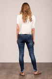 Everyday Denim in Dark Wash, Fishtail Fray