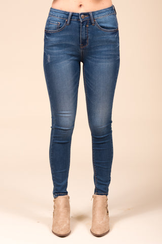 Everyday Denim, Skinny High Waisted Jeans in Medium