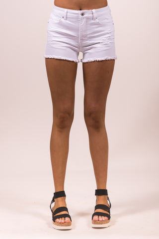 Loving and Living Shorts in White