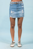 Magnetic Energy Denim Skirt in Light
