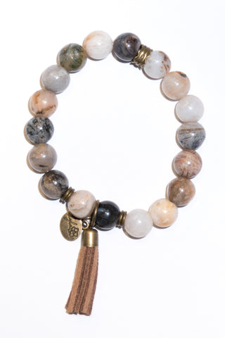 Cece Bracelet in Grey/Cream