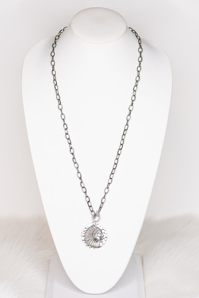 Mila Long Necklace in LG Coin
