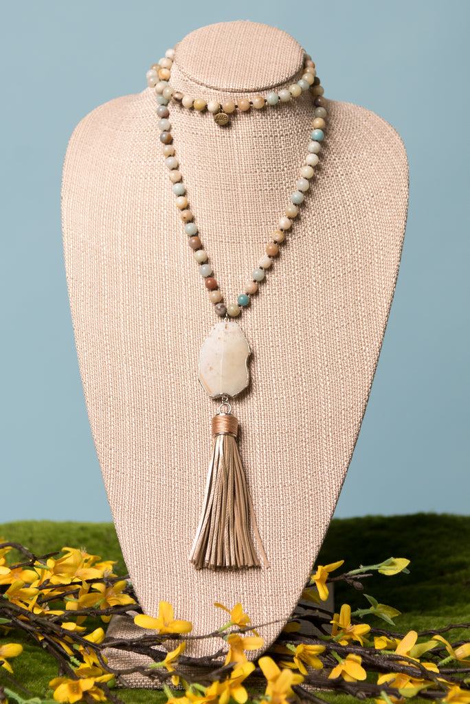 Piper Necklace in Amazonite