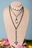 Aria Necklace in Black Cowrie Shell