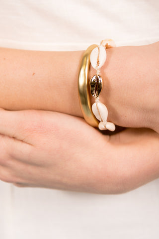 Bailey Bracelet in Gold Cowrie Shell