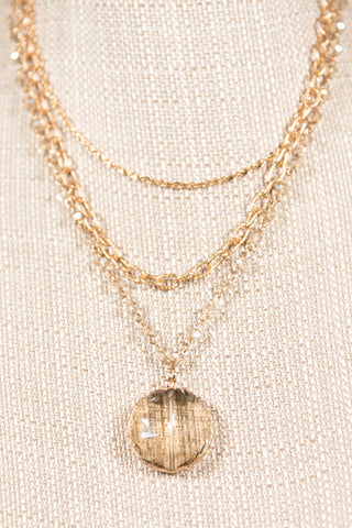 Tracie Necklace in Clear