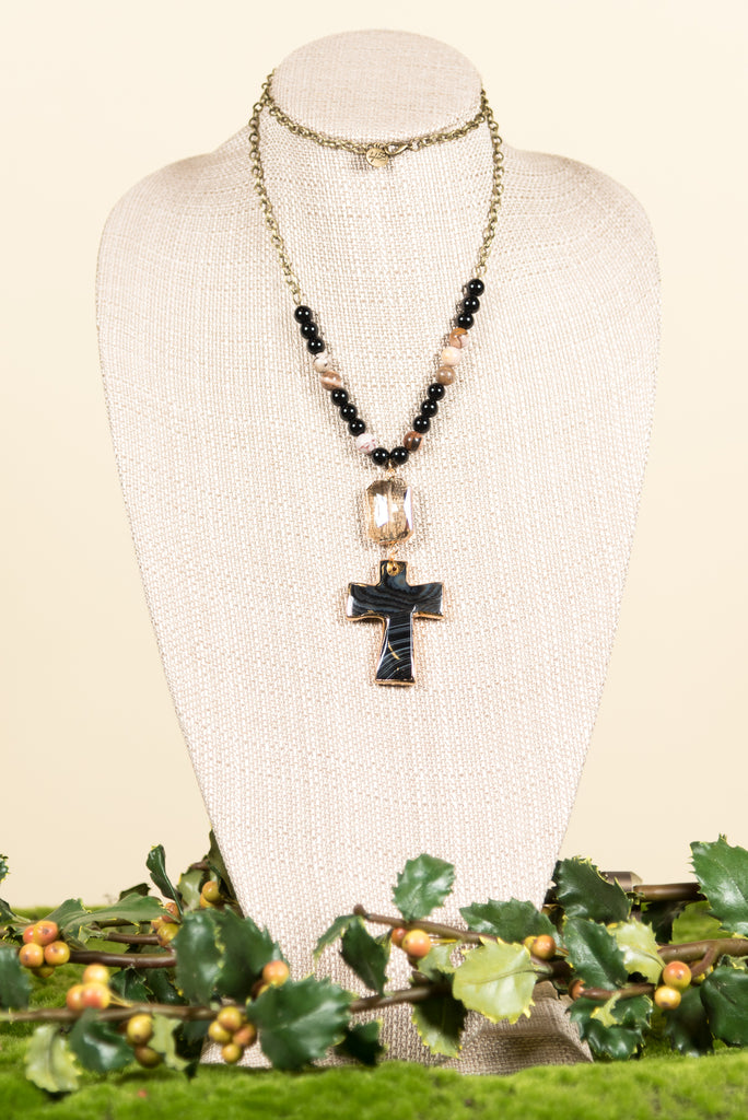 Marie Necklace in Onyx