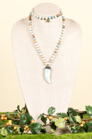 Catie Necklace in Amazonite