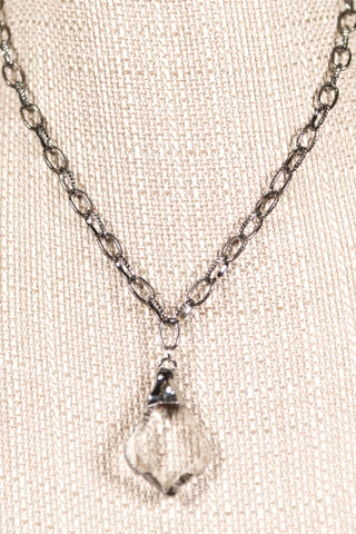 Samantha Necklace in Hematite