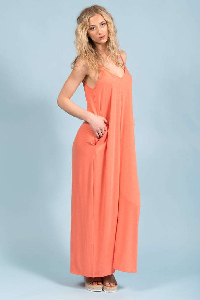 Summer Dreamin' Dress in Coral