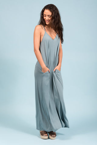 Summer Dreamin' Dress in Blue Grey