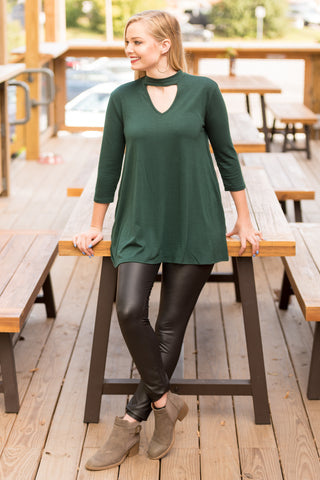 New York City Tunic in Hunter Green