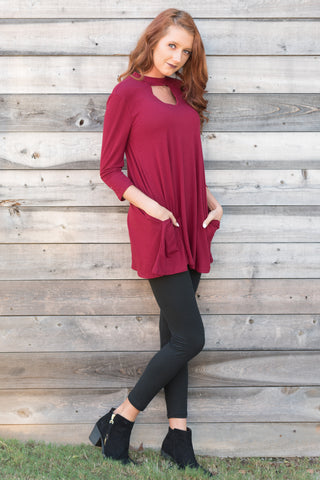 New York City Tunic in Cabernet