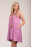 Bondi Swing Dress in Dark Mauve