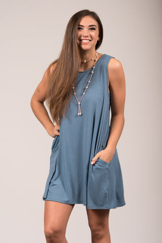 Bondi Swing Dress in Titanium