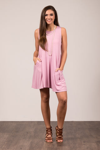Amagansett Swing Dress in Mauve
