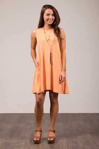 Bondi Swing Dress in Peach