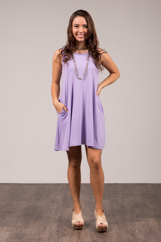 Bondi Swing Dress in Lavender