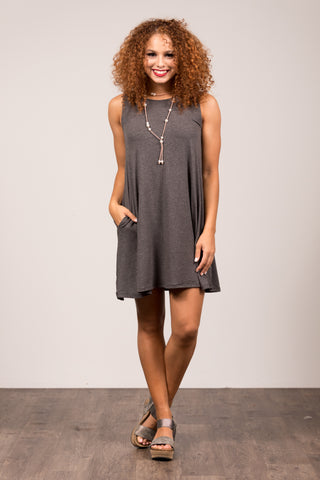 Amagansett Swing Dress in Charcoal
