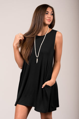 Bondi Swing Dress in Black