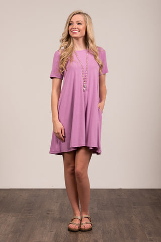 Montauk Swing Dress in Dark Mauve