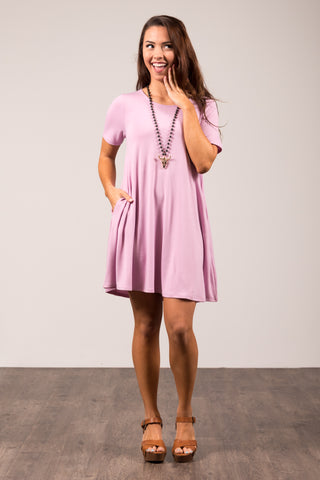 Montauk Swing Dress in Mauve
