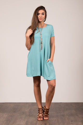 Montauk Swing Dress in Ash Mint