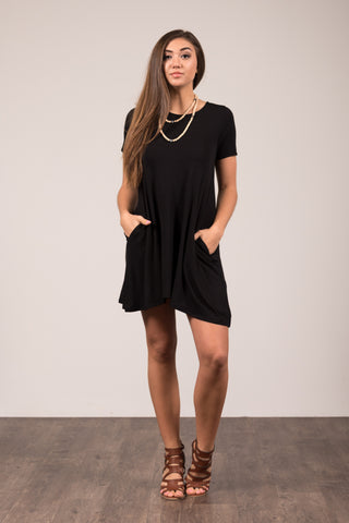 Montauk Swing Dress in Black
