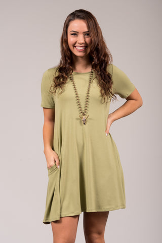 Montauk Swing Dress in Sage