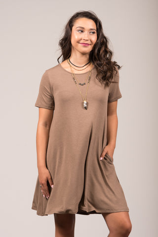 Montauk Swing Dress in Mocha